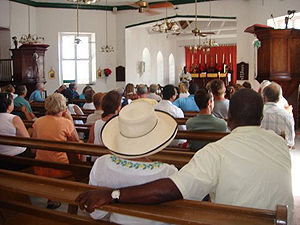Inside the St Johns Church on Salt Cay  - photo by Jim & Sharon Shaffer