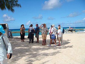 A Beautiful day - everyone gathering at Deans Dock and the Salt Shed on Salt Cay - photo by Jim & Sharon Shaffer
