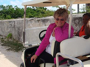 Helen Krieble - President of Turks and Caicos Preservation Foundation  - photo by Jim & Sharon Shaffer