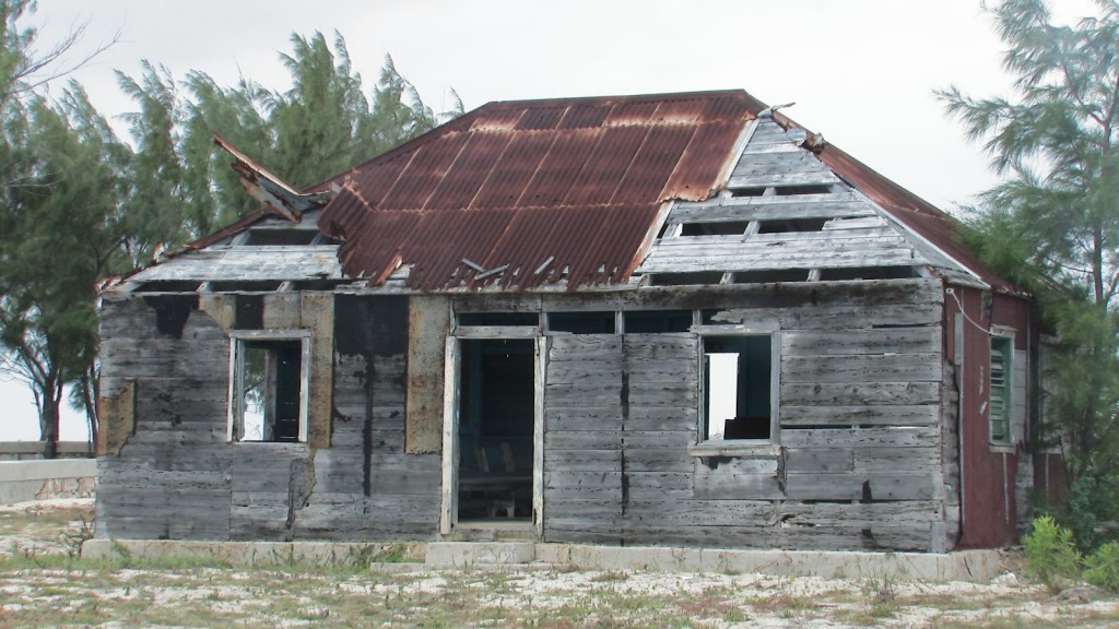 The old Benevolent Society or Brotherhood Lodge on Salt Cay before repairs 2011