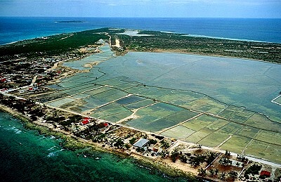The Salt Ponds on Salt Cay Turks & Caicos Islands Photo by Jim Wark, AirPhotoNA.com 1.719.545.1051